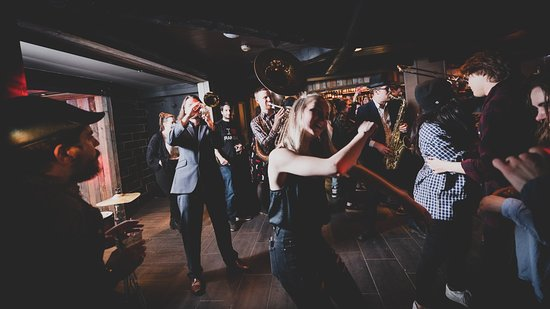 """Elgen Bar: """"Brass Gumbo"""" playing live in Elgen. Join us for great parties and dancing."""