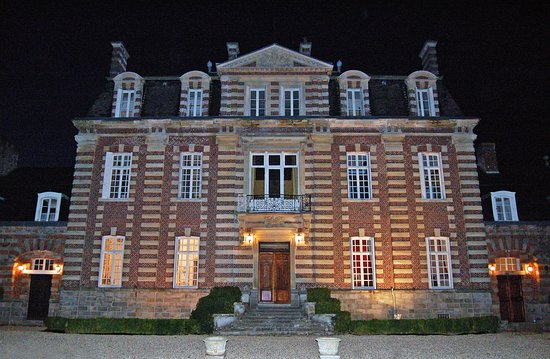 Seine-Maritime, France:  The  Chateau at night
