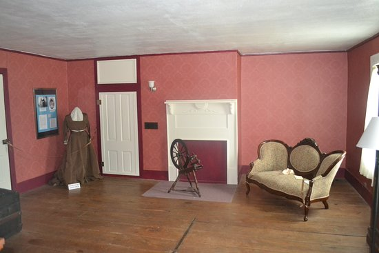Newtonia, MO: a small staircase leads to this upstairs room.