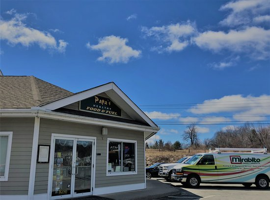 East Otis, MA: Papa's Healthy Food & Fuel has Regular, Premium, and Premium Diesel Fuel available, 8 pumps and pay at pump options.