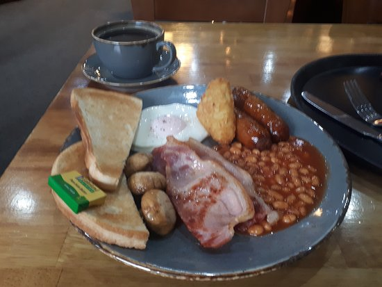 The Old Mill Restaurant and Cafe Bar: Blurry full english.