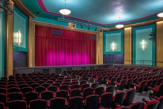 Beautiful interior of 1930's era STATE THEATRE in Auburn CA. Restored in 2013, reopened in 2014. Great location for music, performing arts, local civic events, regional entertainment by performing arts non-profits. High quality independent films, docs, bio-pics. Operated and managed by non-profit Auburn State Theatre. This building has been a centerpiece of Auburn since it opening in December 1930.