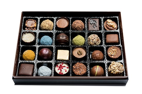 Market Harborough, UK: Box pf chocolates