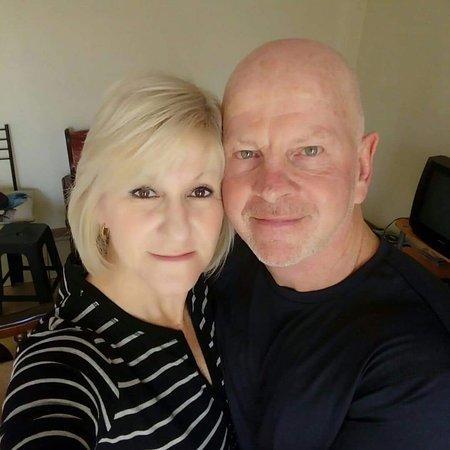 British Airways: Me and my fiance in Joburg