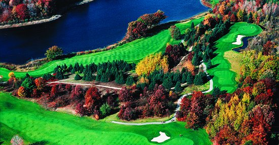 Rothbury, MI: Aerial view of Thoroughbred Golf Course