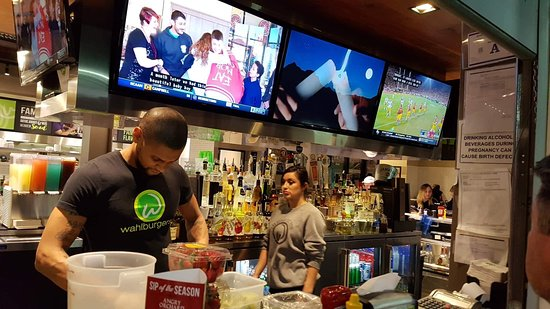 Wahlburgers: Easy, friendly, welcoming restaurant and bar.  Family friendly. Tasty food.
