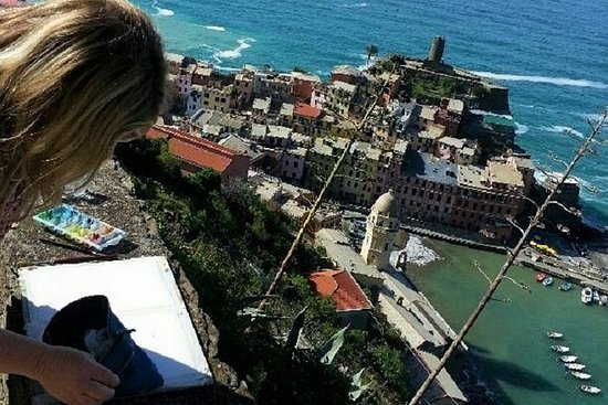 Vibrant Vernazza: Watercolor Painting...