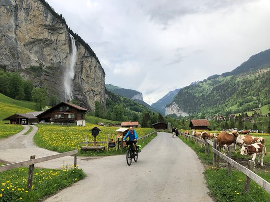 Our trip to Lauterbrunnen in May.