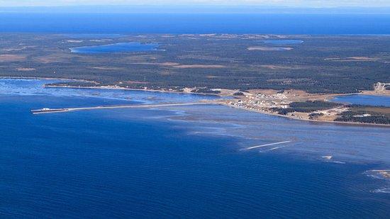 Village de Port-Menier de la municipalité de l'île d'Anticosti.