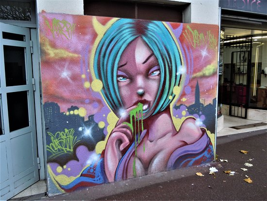 Fresque Visage Feminin