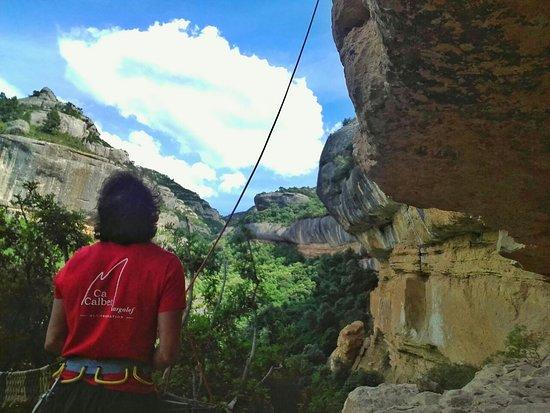 Margalef, Spain: Zona de escalada en (era vella) uno de los lugares mas solicitados por expertos escaladores.