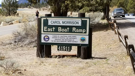 Big Bear City, Kalifornie: Sign from the road