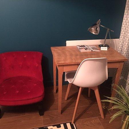 Effet Lodge: Chambre avec terrasse aménagée