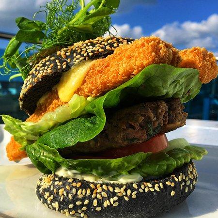 The Bay View Inn: Surf and turf burger.