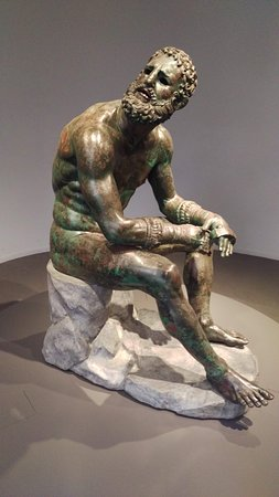 "Bronze sculpture ""The Boxer"" at the Museo Nazionale Romano - Palazzo Massimo alle Terme"
