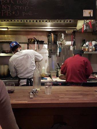 The chefs making dinner