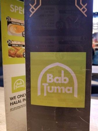 Bab Tuma: Menu cover