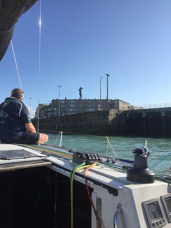 Entering Dieppe harbour.
