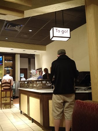 Olive Garden: To go pick up orders in the bar area
