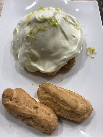 Lemon profiteroles prepared in our cooking classes.