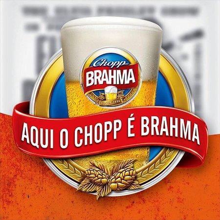 Aqui chopp é brahma