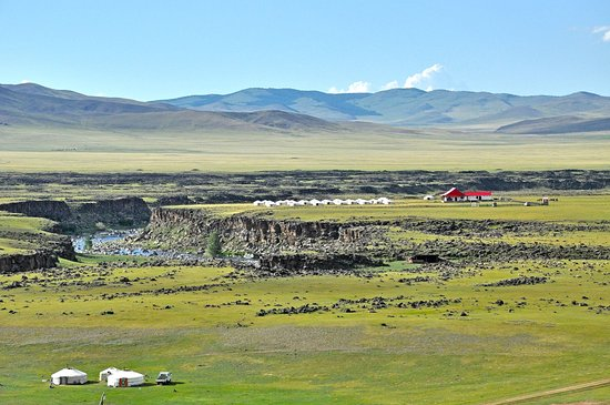 Bat Ulzii, Mongolia: Our camp in beautiful Orkhon Valley