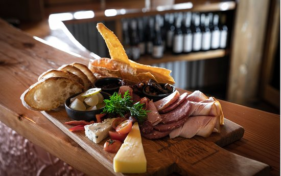 Enjoy a delicious local produce gourmet platter at Atze's Corner Wines.