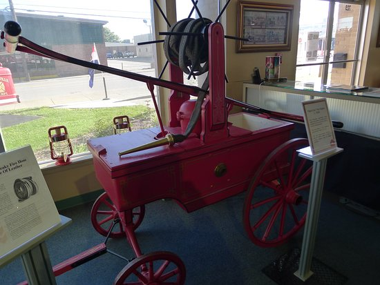 Vintage Fire Museum:  Hand pumped with leather hoses.