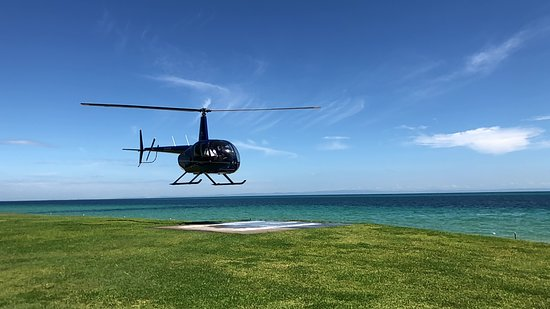Tangalooma Helicopter Service: Landing