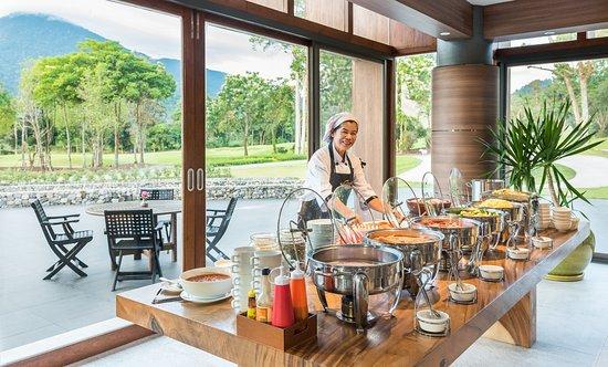 Breakfast Buffet line at Soi Dao Restaurant