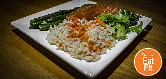 Parisian Salmon Asparagus Rice Pilaf