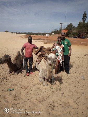 Camel ride at pink lake