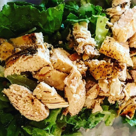 Crystal's Salad with Grilled Chicken.