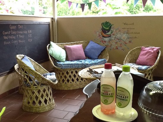 Our relaxing peaceful verandah is the perfect place to enjoy an icy cold Lemonlicious or an perfect cappuccino!