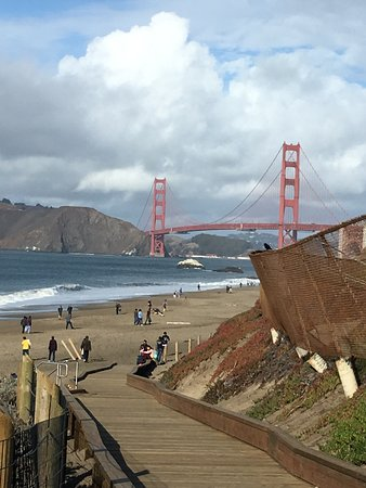 Golden Gate Bridge as seen from the beach