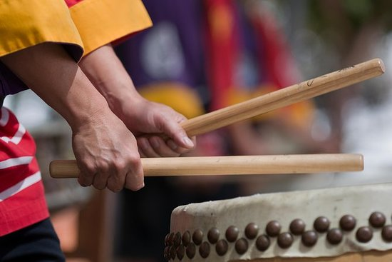 Japansk Taiko Trommelektronik i Kyoto: Japanese Taiko Drum Lesson in Kyoto