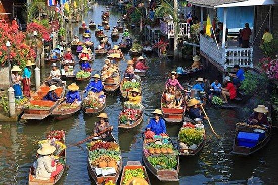 Drijvende markt met de Wat Bang ...