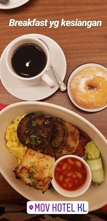 My breakfast at Mov Hotel