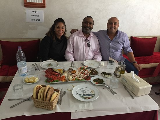 Traditional Moroccan lunch at a local restaurant