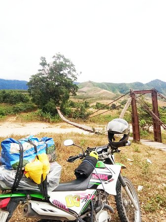 Indochina Motorbike Tours - Motorbike tour across Vietnam - Ms Lyons and friend motorbike tour to Vietnam Central Highland