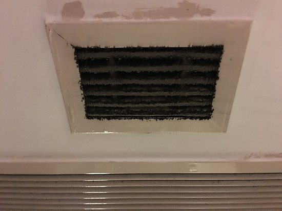 Dirty air conditioner window
