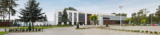 Boszkowo, Pologne: Hotel. Widok od strony parkingu