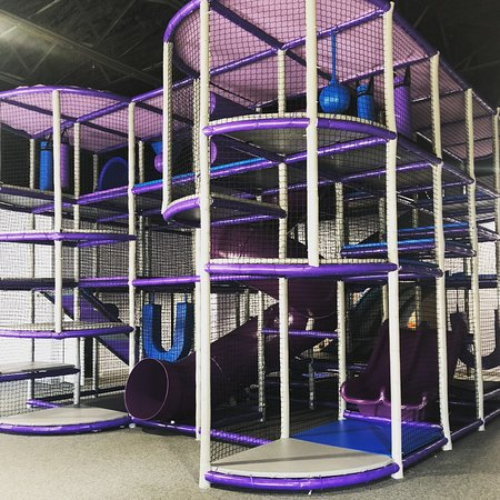 Awesome 3 level climb around with slides, swings and obstacles