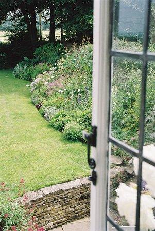 Summer border from Honeysuckle Room window