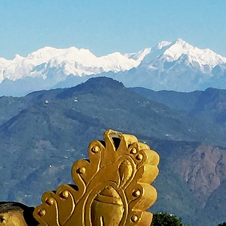The view from  Zong Dhog Palri Fo Brang Monastery.