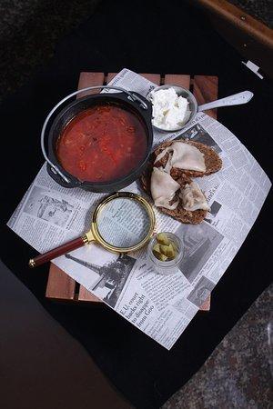Zuppa verrà russa Borsch