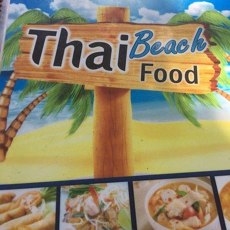 Beautiful white sands and Thai beach food.