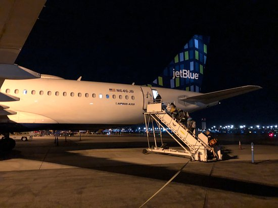 JetBlue: At Burbank, you board from the rear of the plane