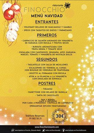 Disfruta de nuestro Menú de Navidad durante todo el mes de Diciembre. Come bien y rodeado de la mejor compañía en Finocchio Ristorante. ¡Felices Fiestas!