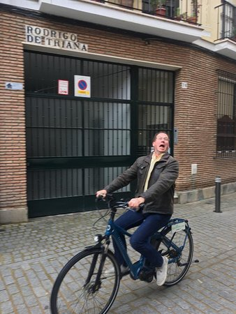 Seville Electric Bike Tour: Happy bike rider